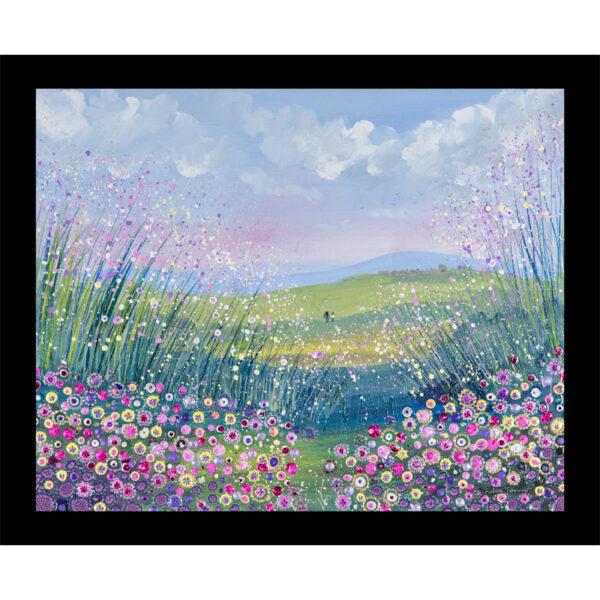 pink purple wildflower meadow table mat fine art placemat