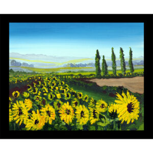 sunflower yellow flowers table mat