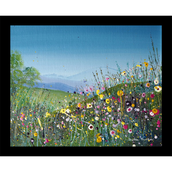wildflower meadow heat resistant toughened glass table mat placemat