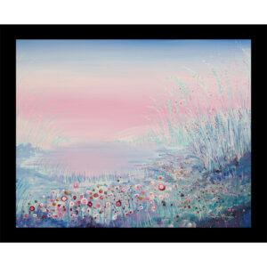 flowers cape floral landscape flower meadow glass table mat placemat