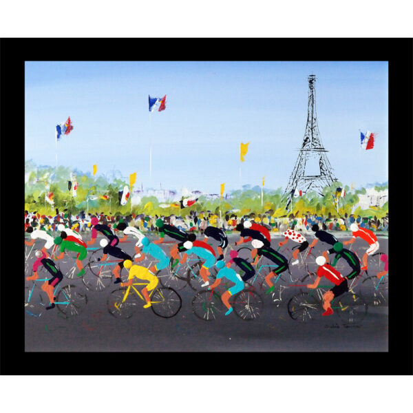 cycling table mat placemat le Tour de France l'eiffel tower yellow jersey