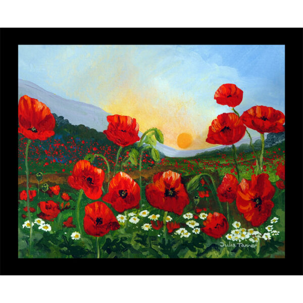 poppy meadow table mat placemat