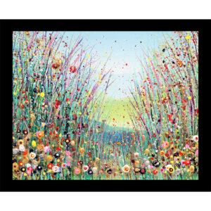 wildflower meadow table mat Julia Tanner Art
