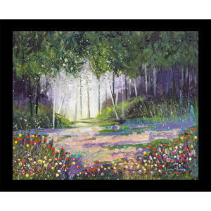 woodland forest trees table mat