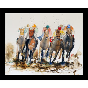 horse race table mat sport