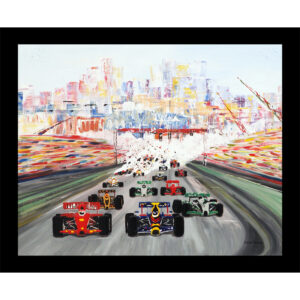 monaco grand prix table mat sport