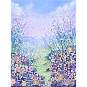 floral landscape flowerscape print art wall art