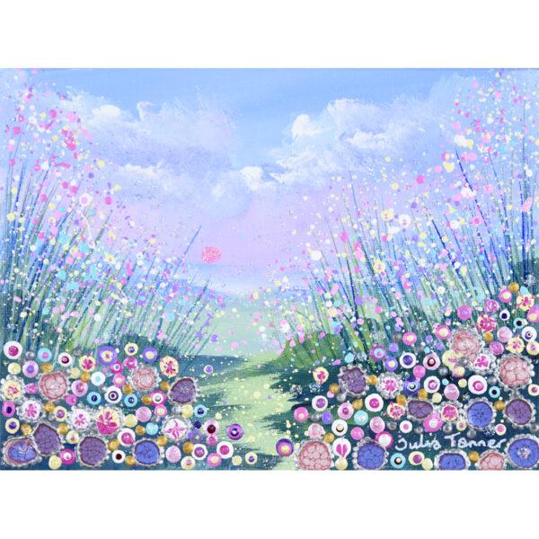 flower meadow artwork framed original