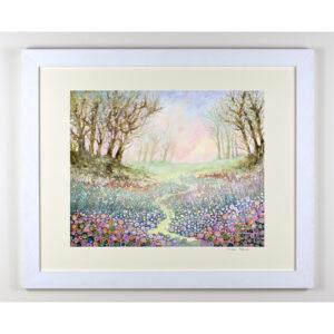 woodland picture framed print