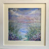 wildflowers by the sea framed hand embellished print