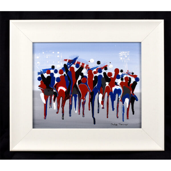 an-acrylic-painting-showing-the-fans-heading-to-the-match