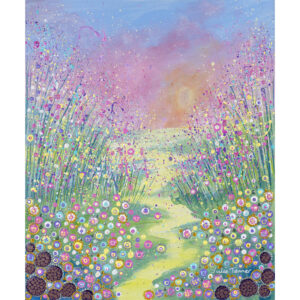 acrylic-and-oil-paint-landscape-original-painting-showing-a-pink-sky-wild-flowers-meadow
