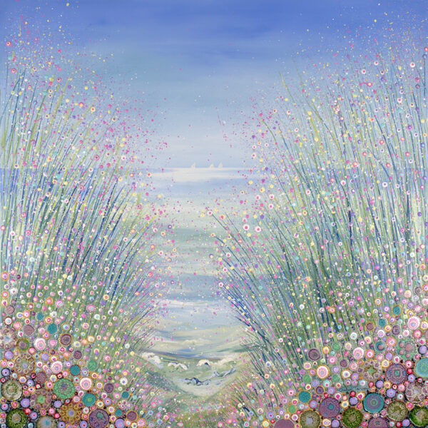 a-painting-of-the-sea-with-wild-flowers-and-grasses