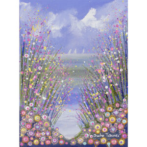 seaside-framed-original-painting-with-wild-flowers-in-acrylic-paint