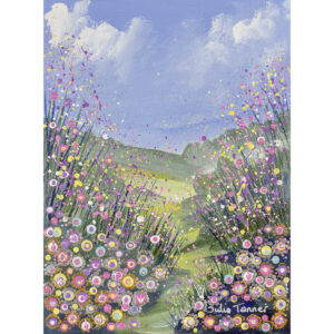 a-framed-acrylic-painting-of-a-wildflower-meadow