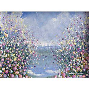 floral seascape original painting
